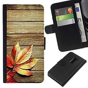 KLONGSHOP // Tirón de la caja Cartera de cuero con ranuras para tarjetas - Otoño de madera del grano Textura Líneas Rústico - LG G2 D800 //