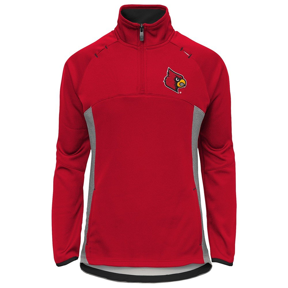 Outerstuff Louisville Cardinals NCAA Extreme Team Logo 1/4 Zip Pullover Jacket Girls Youth by Outerstuff