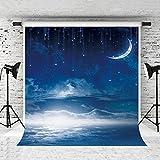 Kate 5x7feet Stars Sky Fantasy Backdrops Photography Stars Moon Cotton Photo Background Cloth