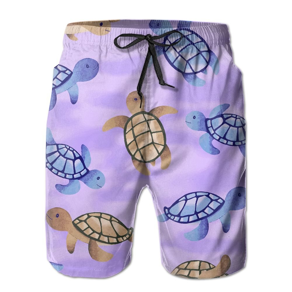 OIYP Sea Turtle Beaty Sea Turtles Mens Basic Watershorts XXL With Pocket by OIYP