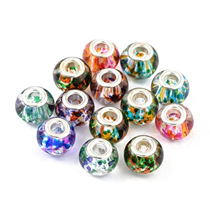 Various designs Assorted 2pcs Lampwork Glass Beads Charms