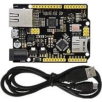 KEYESTUDIO W5500 Ethernet Control Board Development Board for Arduino IDE, Support MicroSD Card w/USB Cable, Not…
