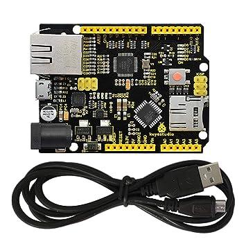 KEYESTUDIO Placa De Desarrollo Ethernet W5500 con Cable USB (sin PoE) para Arduino de MicroSD (tarjeta TF): Amazon.es: Informática