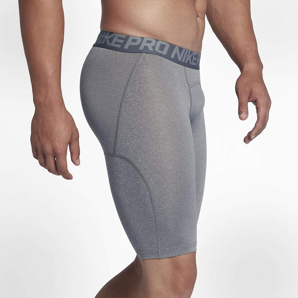 Nike Mens Pro Cool Compression 9'' Shorts Game Carbon Grey 703086-091 Size Small by Nike (Image #4)