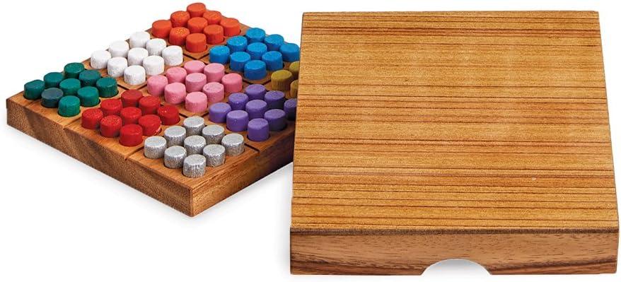 Sudoku De Colores – Juego de Mesa en Caja de Madera Práctica – Juego de Ingenio – Rompecabezas – Idea de Regalo – Juego de Viaje: Amazon.es: Hogar