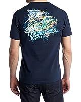 Columbia Men's PFG Offshore Charm Short Sleeve Tee T-Shirt (Small, Columbia Navy)