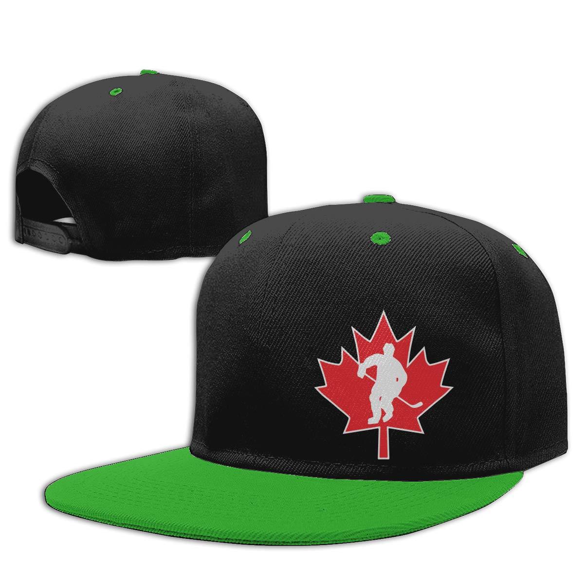 NMG-01 Women Men Snapback Cap Canada Hockey3 Printed Flat Brim Baseball Caps