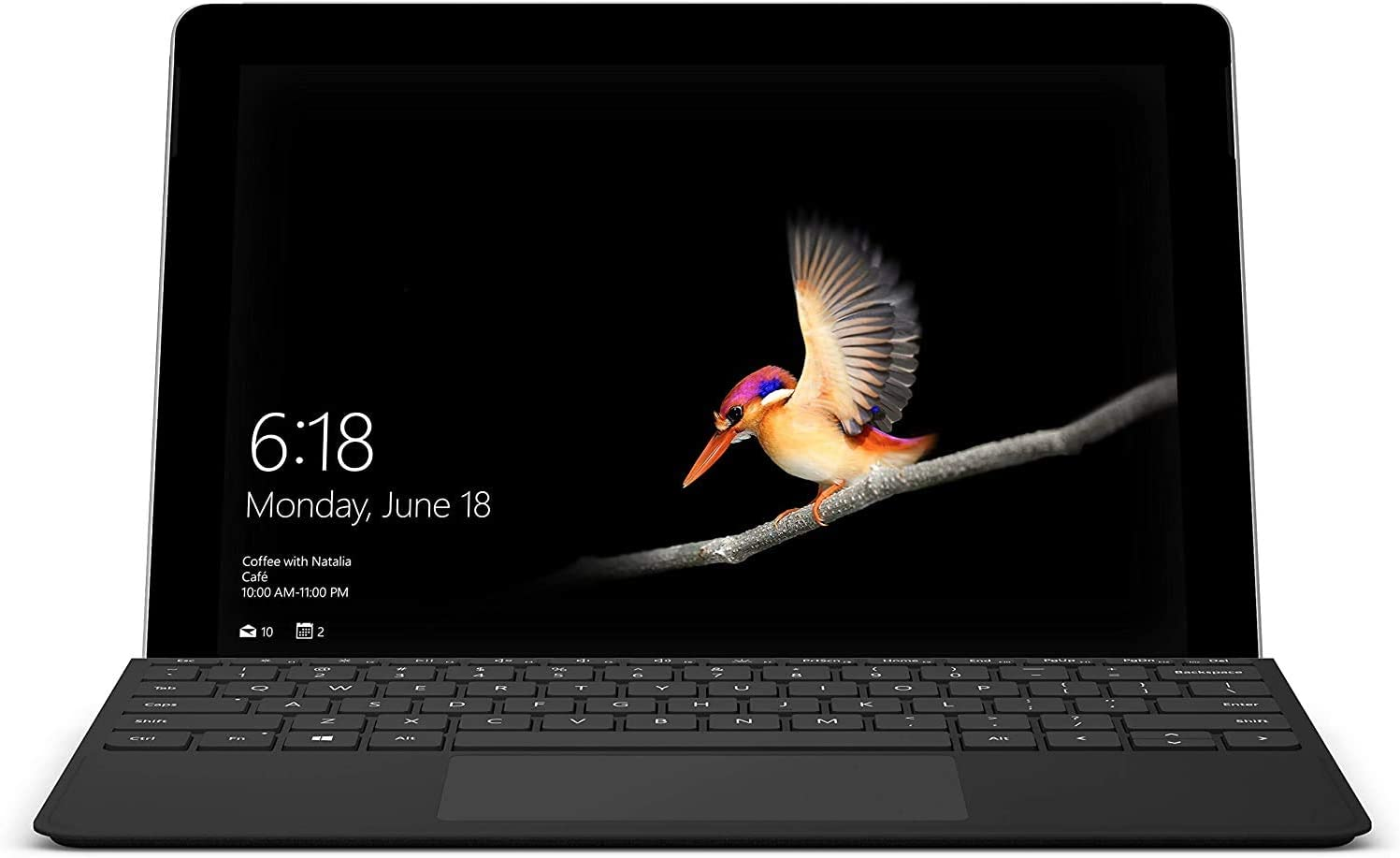 Microsoft Surface Go 10'' Touchscreen (1800x1200) PixelSense Display w/Surface Type Cover, Intel Pentium Gold 4415Y Facial Recognition USB-C Windows Ink Active Windows 10 S Mode 4GB RAM 128GB SSD