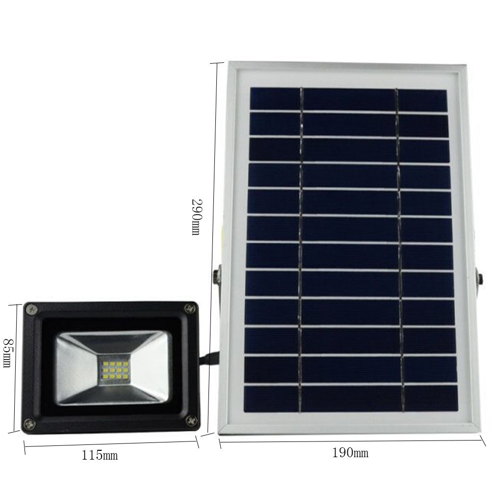 MYY Solar-LED-Flut-Licht-Im Freiensicherheits-Lampe Ultra Heller Hof-Ausgangsbeleuchtungs-Straßenlaterne, Weiß