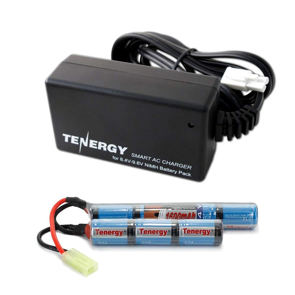Tenergy Combo 8.4V 1600mAh Butterfly Mini NiMH Airsoft Battery Pack + 8.4V-9.6V NiMH Smart Charger