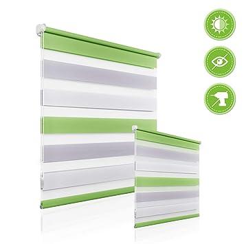 Sicht und Sonnenschutz-Klemm-Rollo/_OHNE BOHREN auf dem Fensterflügel/_GRAU