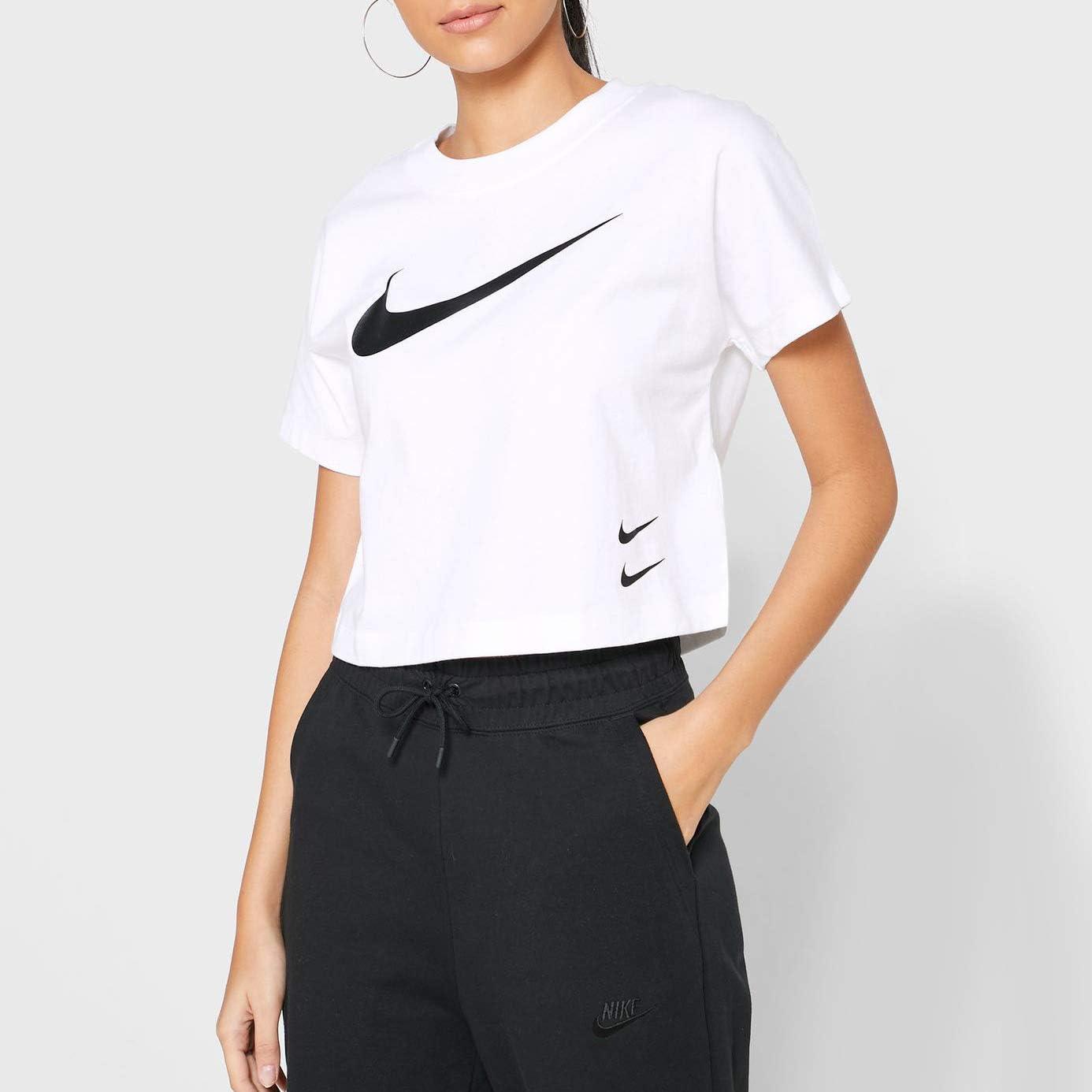 Nike Damen T-Shirt W NSW Swsh Top Ss White/Black