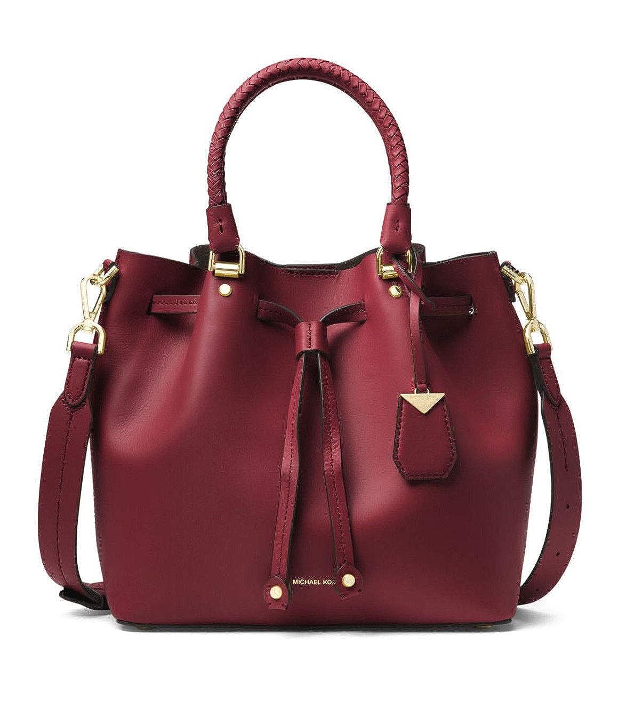 caf3dbac8f66 MICHAEL Michael Kors Medium Blakely Leather Bucket Bag in Oxblood: Handbags:  Amazon.com
