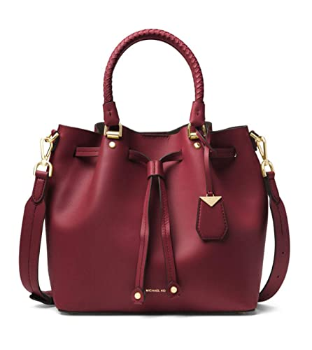 45525310c5be MICHAEL Michael Kors Medium Blakely Leather Bucket Bag in Oxblood: Handbags:  Amazon.com