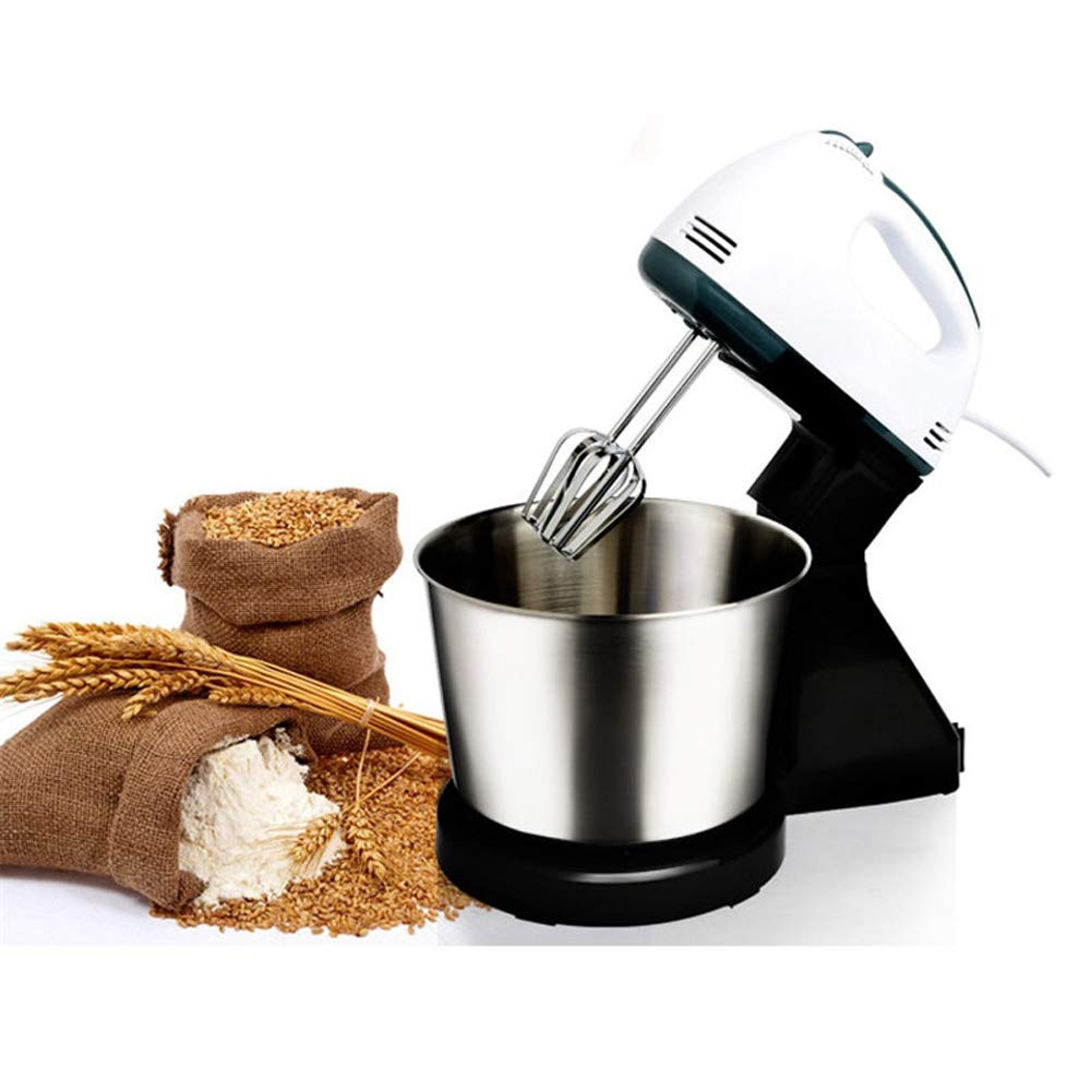 QWERTOUY Electric Food Mixer Table &Stand Cake Dough Mixer Egg Beater Blender Whipping Cream Machine Food Processor by QWERTOUY