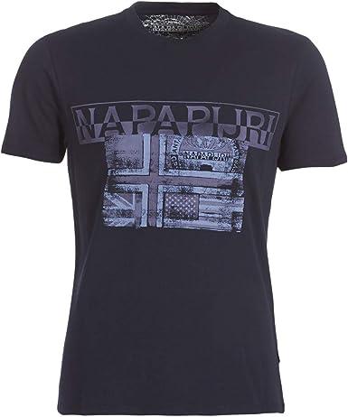 Napapijri Sawy BLU Marine Camiseta para Hombre: Amazon.es: Ropa y accesorios
