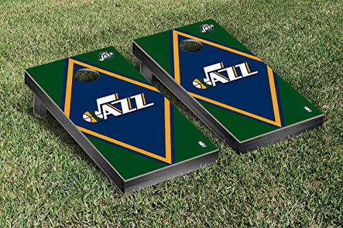 Utah Jazz NBA Basketball Cornhole Game Set Diamond Version by Victory Tailgate