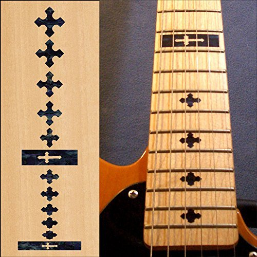 Fretboard Markers Inlay Sticker Decals for Guitar and Bass - (Pearl Maltese Cross)