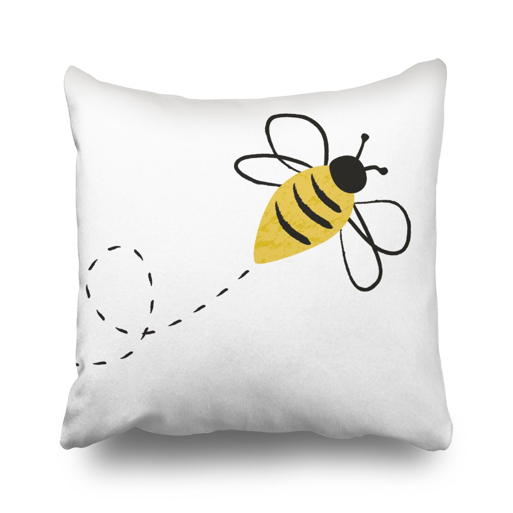 ONELZ Bumblebee In FlightSquare Decorative Throw Pillow Case, Fashion Style Zippered Cushion Pillow Cover (20X20 inch)