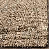 Safavieh Natural Fiber Collection NF447M Hand Woven Natural and Grey Jute Runner (26 x 10)