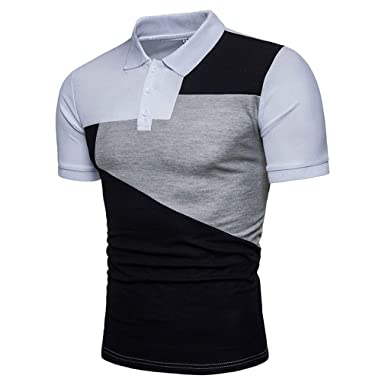 Polo para Hombre Summer Casual Sport Polo Tops Ropa Basic Mixed ...