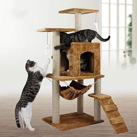 Dixinla Árbol Gatos Gato Saltando, sisal, Gato, árboles Gigantes, Gato Escalada,
