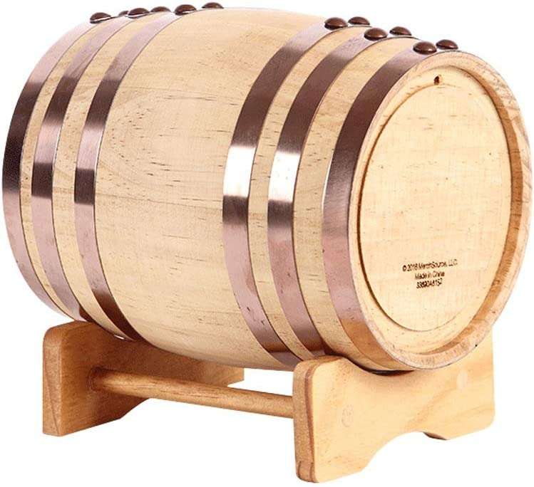 FKYTH Prima de Roble de Vino de elaboración del Whisky Barriles Barril Dispenser, Cerveza, Vino, Bourbon, Tequila, Ron Gift Set (Size : 5L)