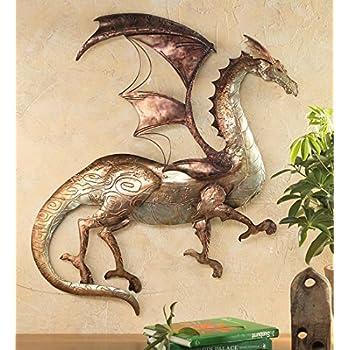 Amazon.com: Tin Dragon Wall Art: Home & Kitchen