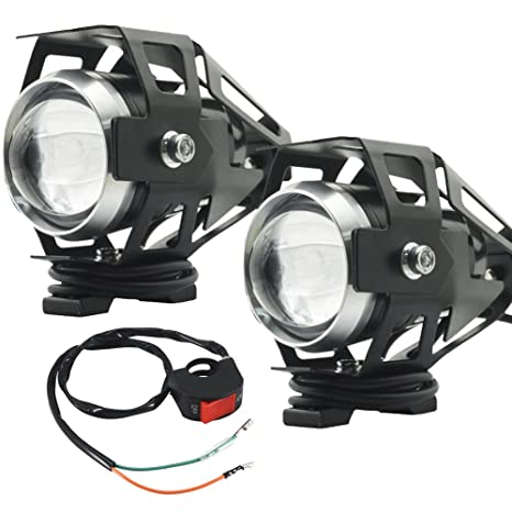 10w Motorcycle Spotlight Bright Auxiliary Lamp U5 Chip Led Work Light Fog Lights Car Accessories Motorcycle Bike Indicator Lights Lights & Lighting