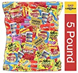 CANDYMAN Assorted Candy Party Mix 5lb Pack Party Favors for Kids, Skittles, Swedish Fish, Haribo, Starburst, Sour Patch, Twizzlers, Nerds and Gobstoppers