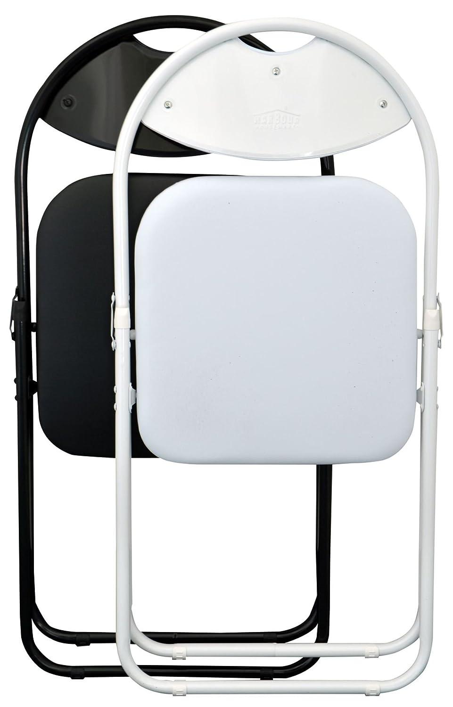 pour le bureau enti/èrement blanche Chaise pliante rembourr/ée lot de 2