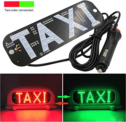 Amazon.com: YSY LED Sign Decor, 2 Color Changeable Taxi ...