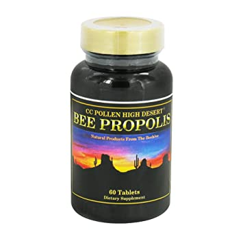Cc Pollen High Desert Bee Propolis Tablets, 60 Ea (2-pack)