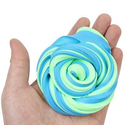 Quisatl Fluffy Slime Coloré Magique Bricolage Soulagement du Stress en Argile Jouet Aucun Borax et Non Toxique Parfumée pour Enfants et Adultes 2018 (A)