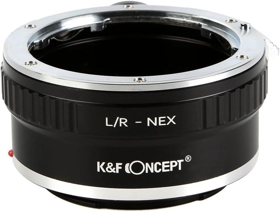 K/&F Concept Anello Adattatore L//R NEX Obiettivo Leica R a Fotocamera Sony E Mount NEX con Supporto