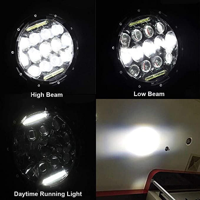 "1pr Suzuki Sierra SJ80 SJ80V LJ80 Hi//Lo 7/"" Round Headlights Lights /& HID KIT"
