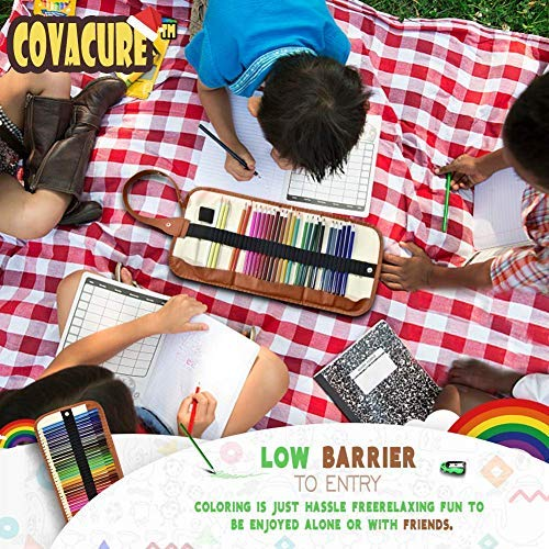 Colored Pencils Set for Adult and Kids - COVACURE Premier Color Pencil Set With 36 Colouring Pencils Sharpener and Canvas Pencil Bag for Kids and Adult Coloring Book. Ideal for Christmas Gifts by Covacure (Image #3)
