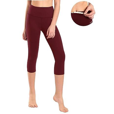 Ogeenier -3/4 Mallas Deportivas Mujer Pantalones Yoga Pilates Leggings para Running Fitness Gimnasio Training Ejercicio Mujer Gym Yoga Pantalón