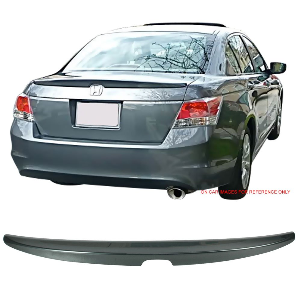 Pre-painted Trunk Spoiler Fits 2008-2012 Honda Accord | OEM Factory Style #B536P Royal Blue Pearl ABS Rear Boot Deck Lid Roof Wing Replacement other color available by IKON MOTORSPORTS | 2009 2010
