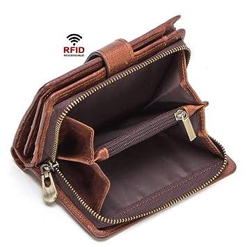 La cartera de los hombres, Mens Wallet RFID cuero genuino ...