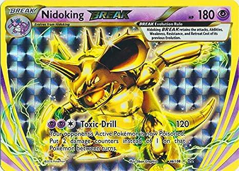 Rare BREAK XY Evolutions Pokemon Near Mint Nidoking BREAK 46//108