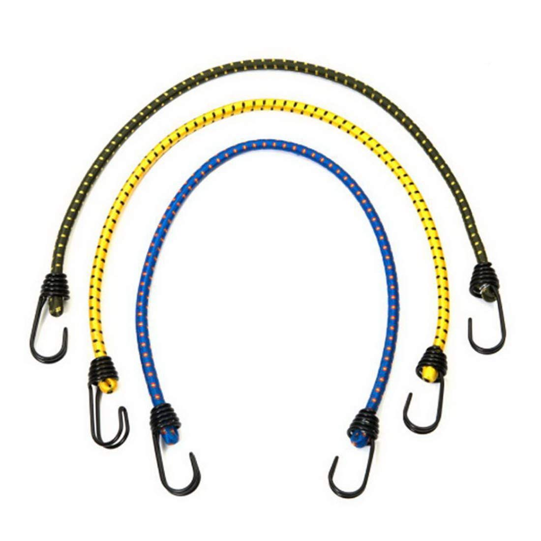 Bungee Cords With Hooks Assortment 3 Pcs Length 23.62 Inch Dia 0.31 Inch Random Color For Cargo Camping Rvs Trunks Luggage Racks - Elastic Shock Cord Tarp Tie Downs by Mega Shop (Image #8)