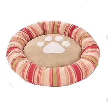 ZMXD Cama para Mascotas, Alfombra roja y cómoda para Perros a Rayas Rojas, Esterilla para Gatos, Anti-mordedura, 10 kg o Menos, Uso para Mascotas: ...