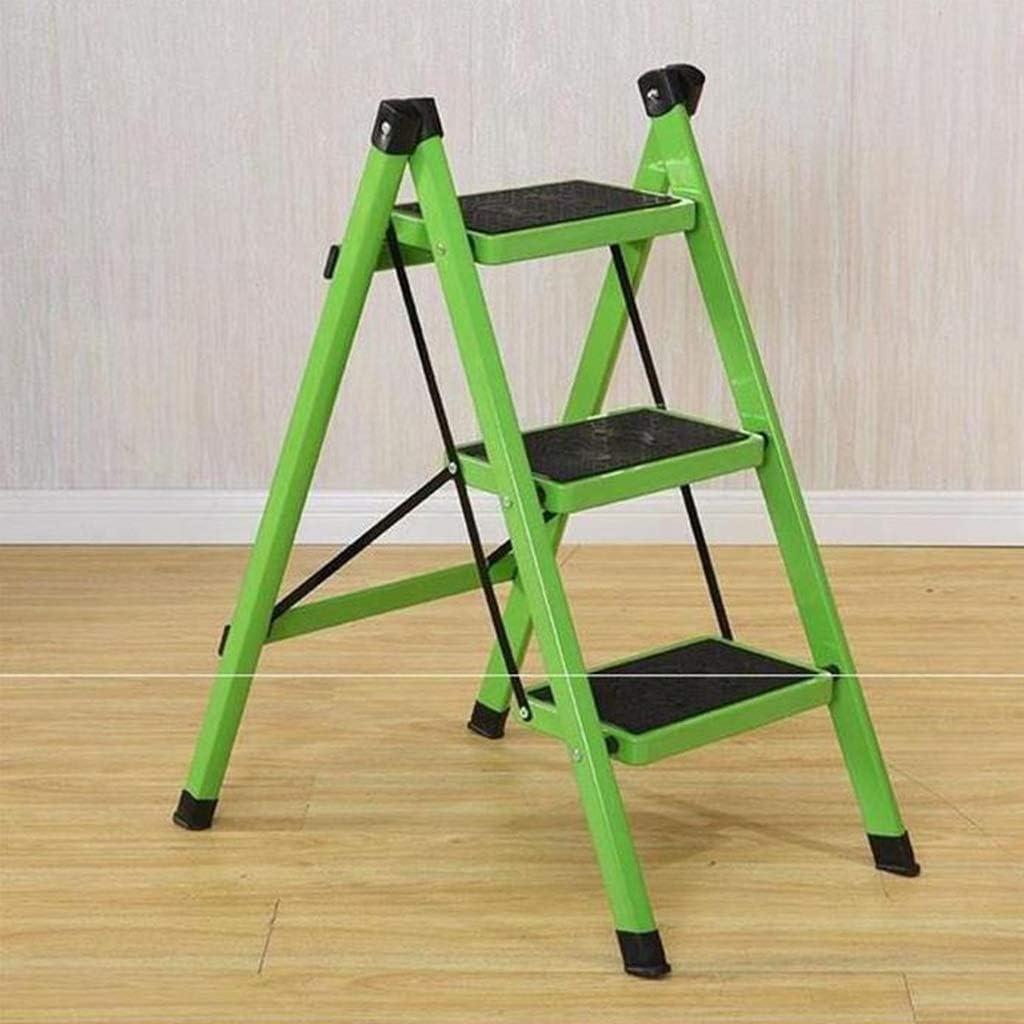 3-Step Ladder, Portable Folding Trappen, Heavy Duty Steel, huishouden keuken Step Stool, Multi-Purpose Ladder met antisliptreden, 330lbs Capacity (Color : C) E