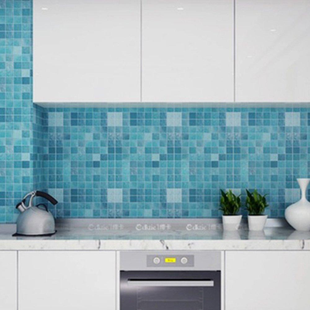 Funlife® Mosaic 5 Colors Aluminum Foil Self-adhensive Anti Oil Wallpaper for Kitchen High Temperature Resistant