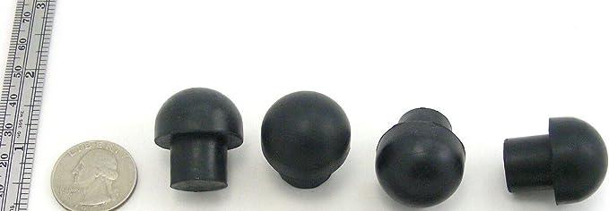 "12 Large Rubber Push-In Mushroom Bumper Rubber Feet 15//16/"" Diam Fits 19//32/"" hole"