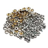 Summer-Home 150Pcs Marine Canvas Stainless Steel Snap Fastener Stud Button Sockets Screw Set