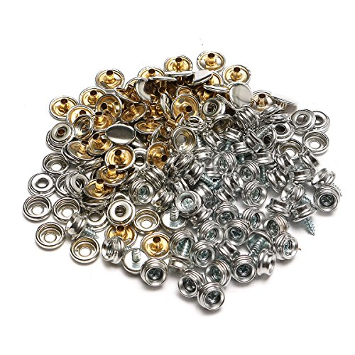 Summer-Home 150Pcs Marine Canvas Stainless Steel Snap Fastener Stud Button Sockets Screw Set by Summer-Home
