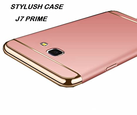 the latest 9c44c be366 STYLUSH, Samsung J7 Prime CASE: Luxury 360 Degree Protection 3in1 Back Case  Cover for Samsung J7 Prime (Black with Gold) (Rose)