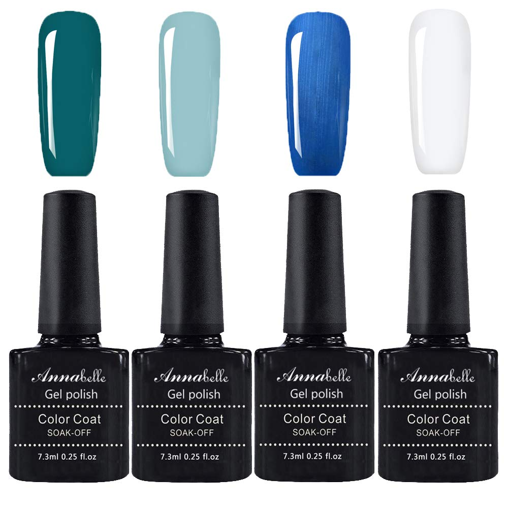 Annabelle Gel Nail Polish Soak Off UV LED Gel Gel polish (Lot of 4pcs 7.3ML/pc) 059